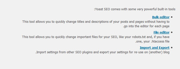 Yoast WordPress SEO Tools Setting