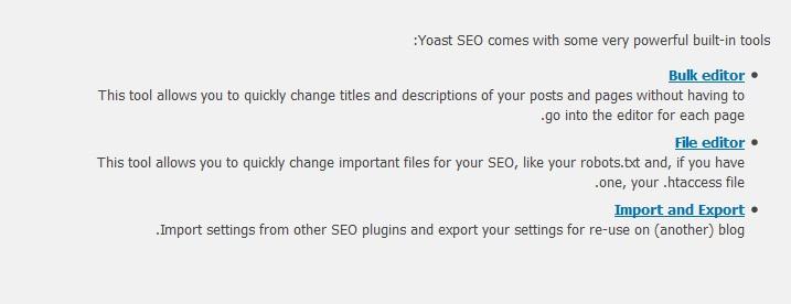 Yoast WordPress SEO Tools Setting