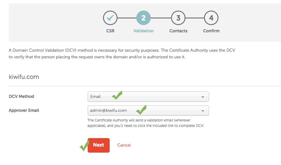NameCheap Approval Email SSL CSR