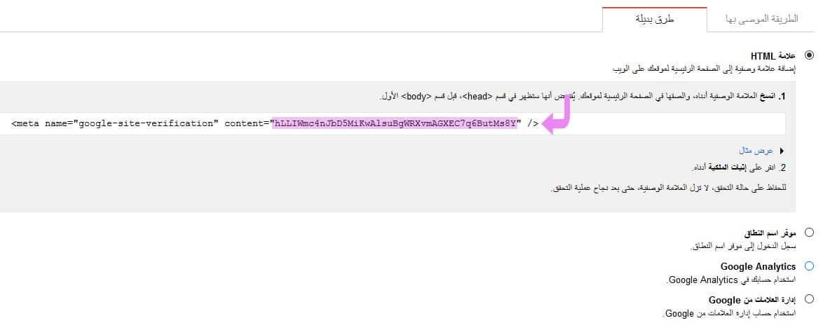 GSC HTML tag