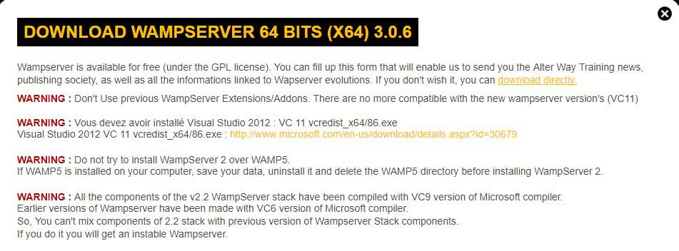 WampServer Download Link