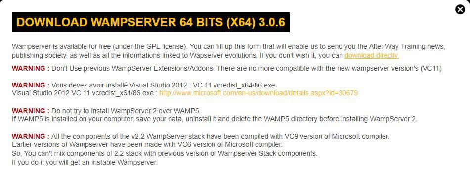 WampServer Download Link
