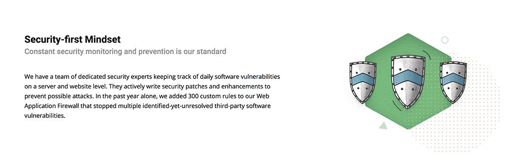 أمان وحماية SiteGround