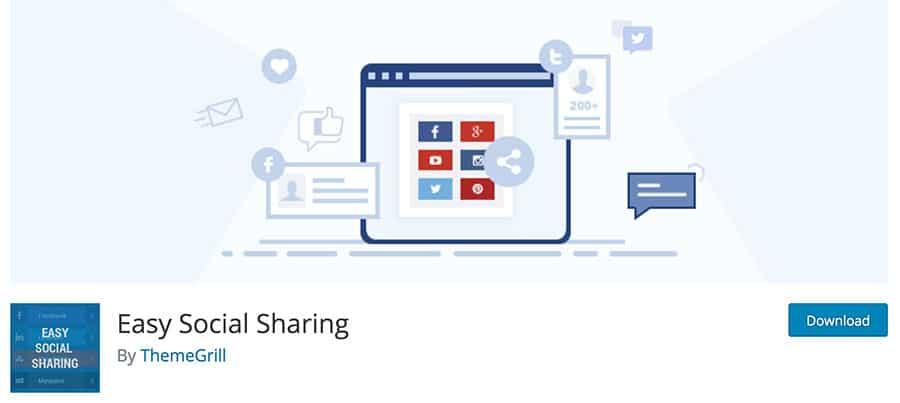 إضافة Easy Social Sharing